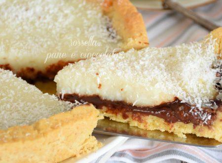 Crostata cocco e nutella con Crema al Cocco senza uova