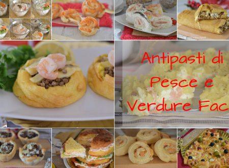 Ricette di antipasti facili pesce e verdure