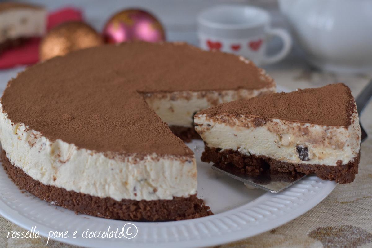 Cheesecake al torrone e cioccolato