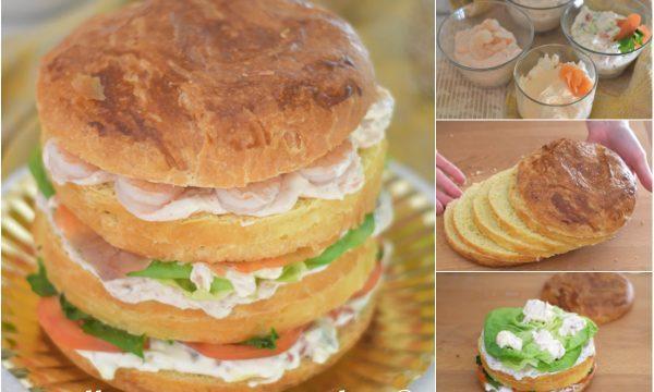 Panettone gastronomico senza impasto ricetta e videoricetta
