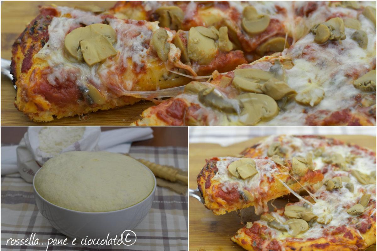 Impasto per pizza che non sa di lievito
