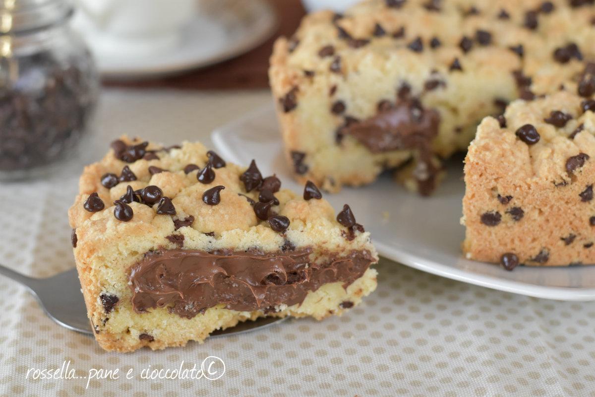 Torta cookie alla nutella cremosa ricetta facile