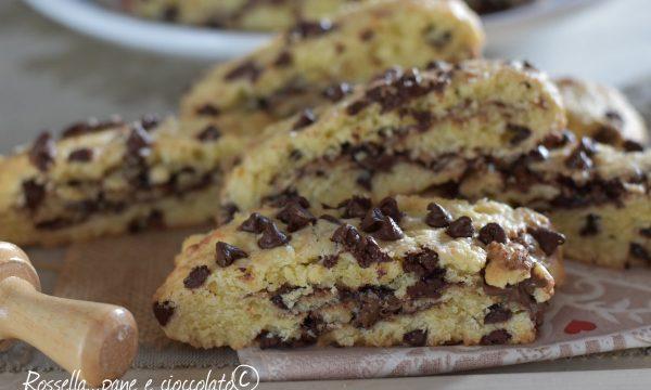 Biscotti da inzuppo al cioccolato e nutella