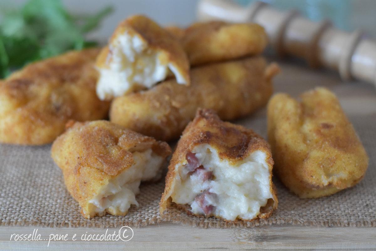 Crocchette di prosciutto e formaggio