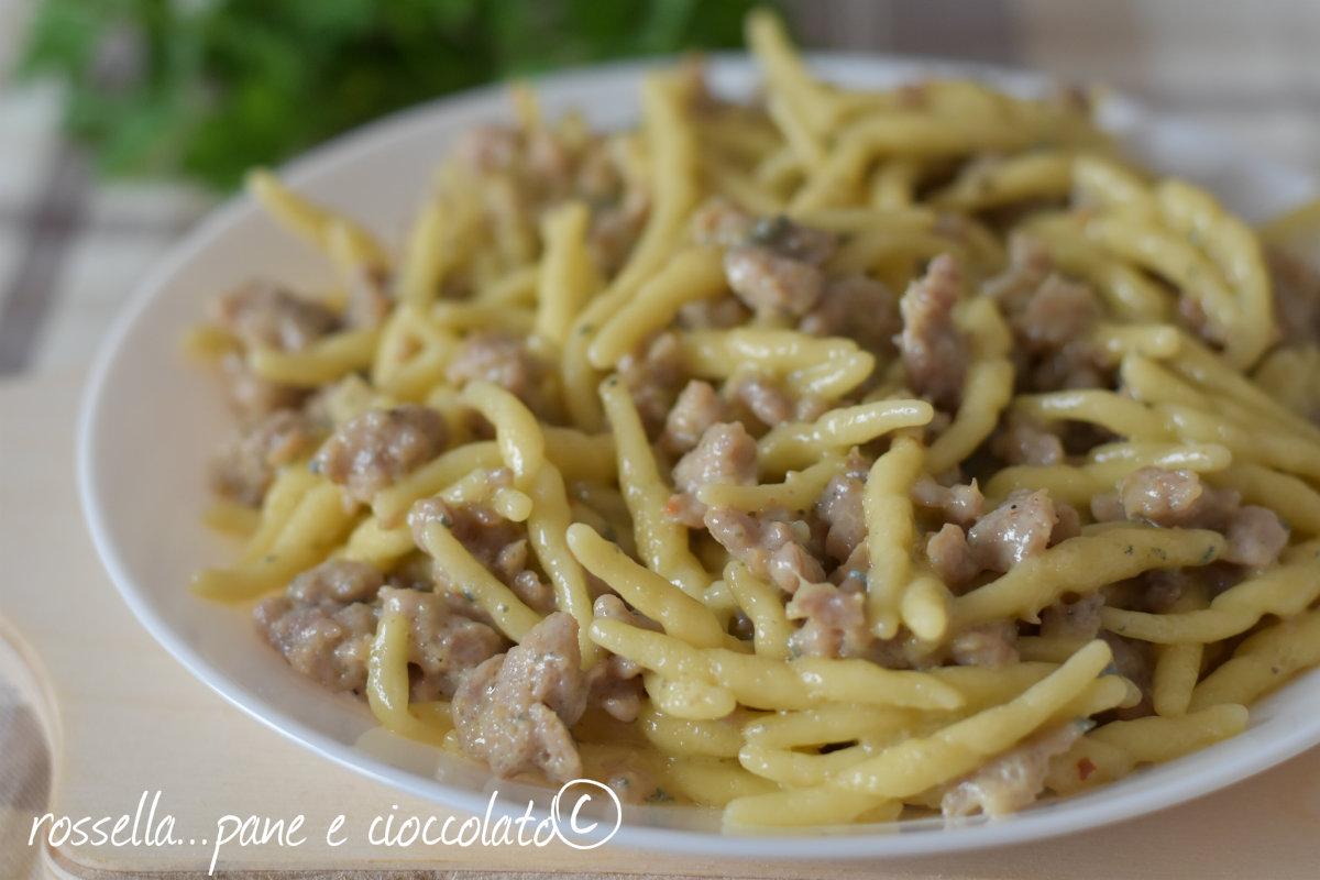 Trofie salsiccia e gorgonzola