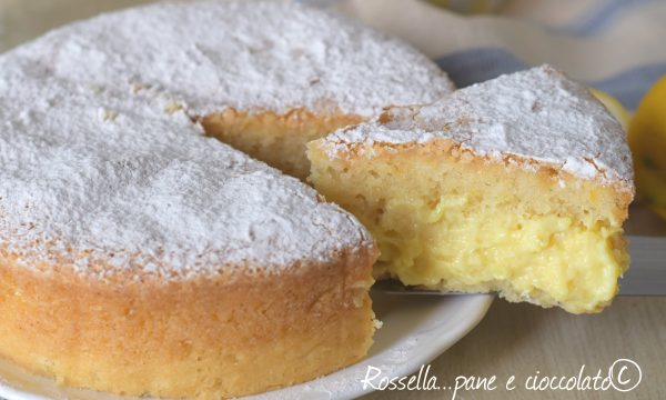 Torta Pan di Limone alla crema e non sporcherete nulla