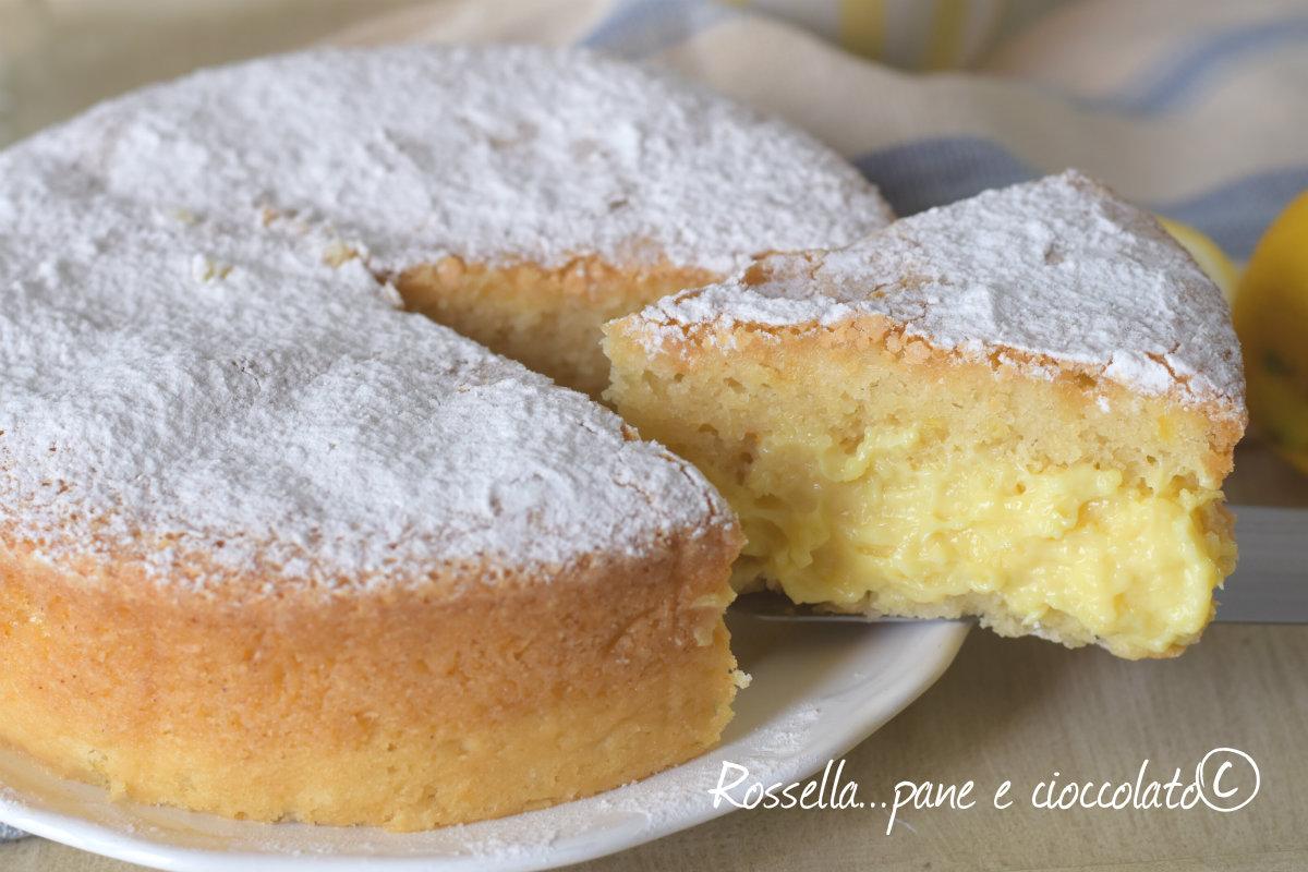 Torta pan di limone alla crema