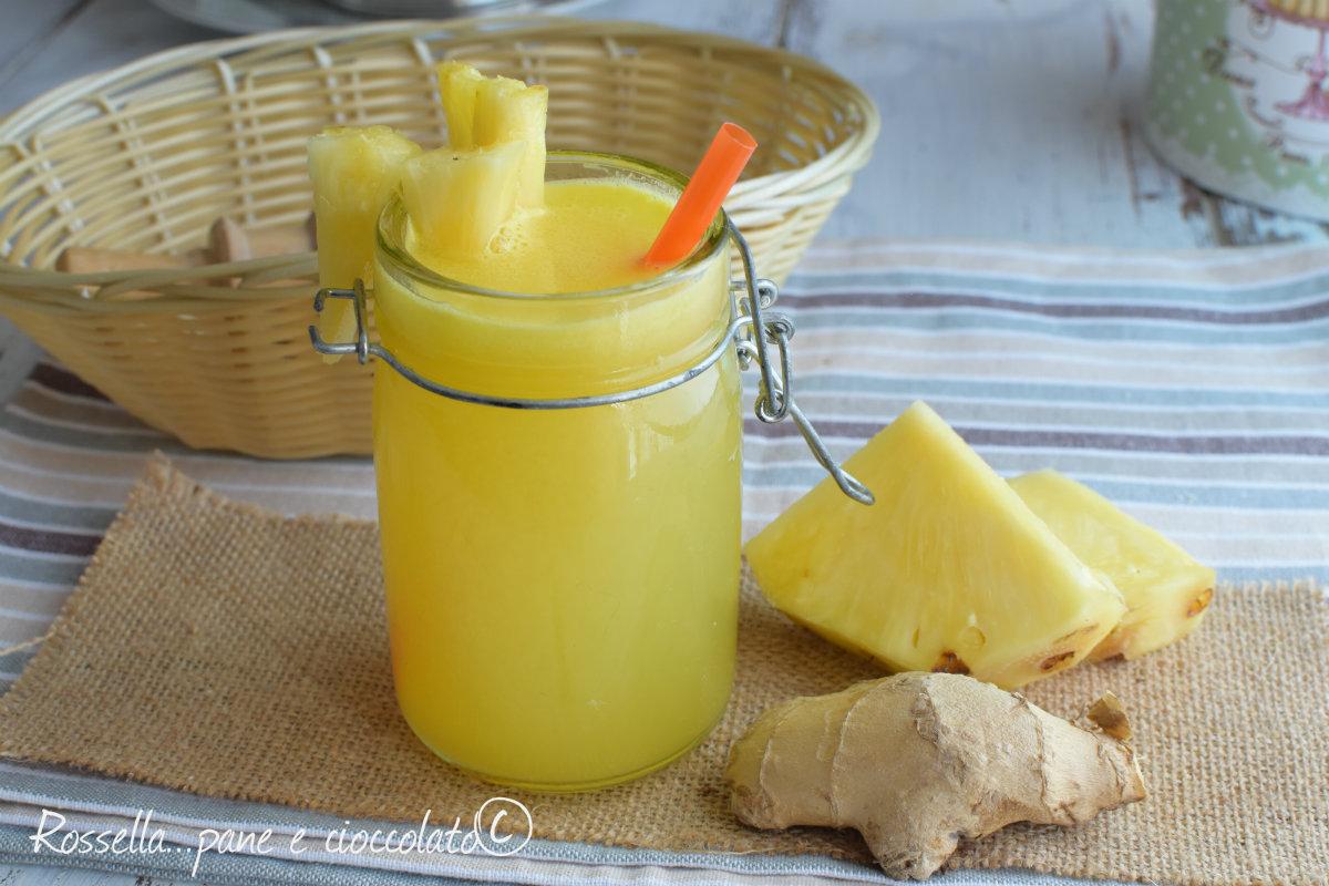 Ananas e Zenzero dimagranti e depurativi con e senza estrattore