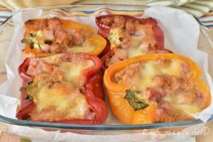 Peperoni ripieni al forno con Prosciutto e Provola