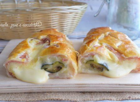 Rustico primavera patate prosciutto zucchine e formaggio
