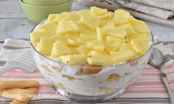 Tiramisu all Ananas fresco