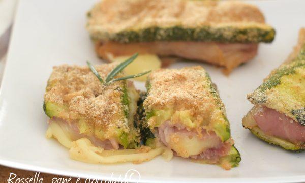 Zucchine farcite al forno con impanatura senza uova