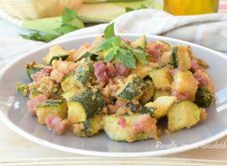 Zucchine al forno con pancetta