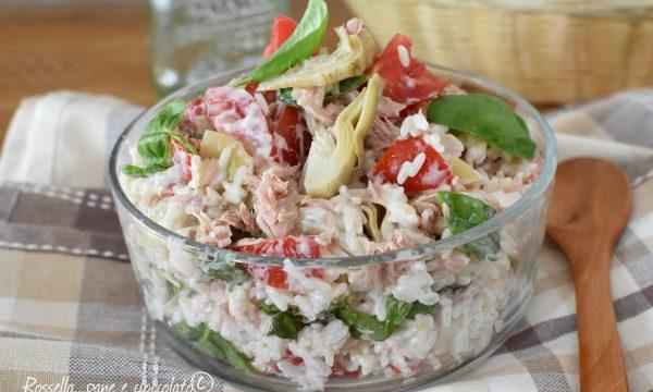 Insalata di riso philadelphia tonno e pomodori