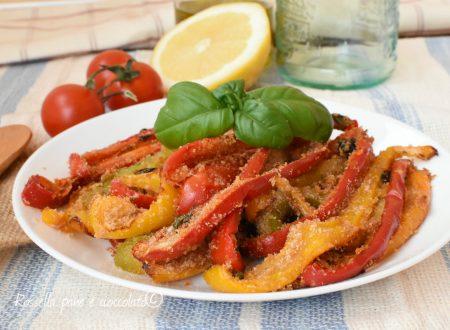 Peperoni con la mollica gratinati al forno