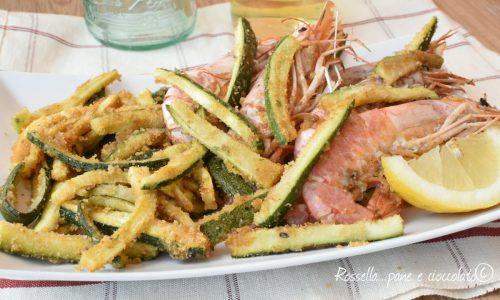 Zucchine e Gamberi al Forno Come se Fossero fritti