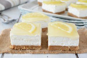 Dolcetti al limone freddi senza cottura