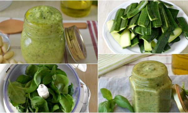 Pesto di Zucchine e Pesto di Basilico velocissimi