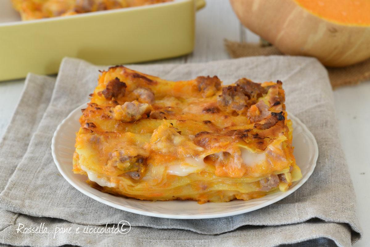 Ricetta Lasagne Di Zucca.Lasagne Con Zucca E Salsiccia Saporite E Cremose
