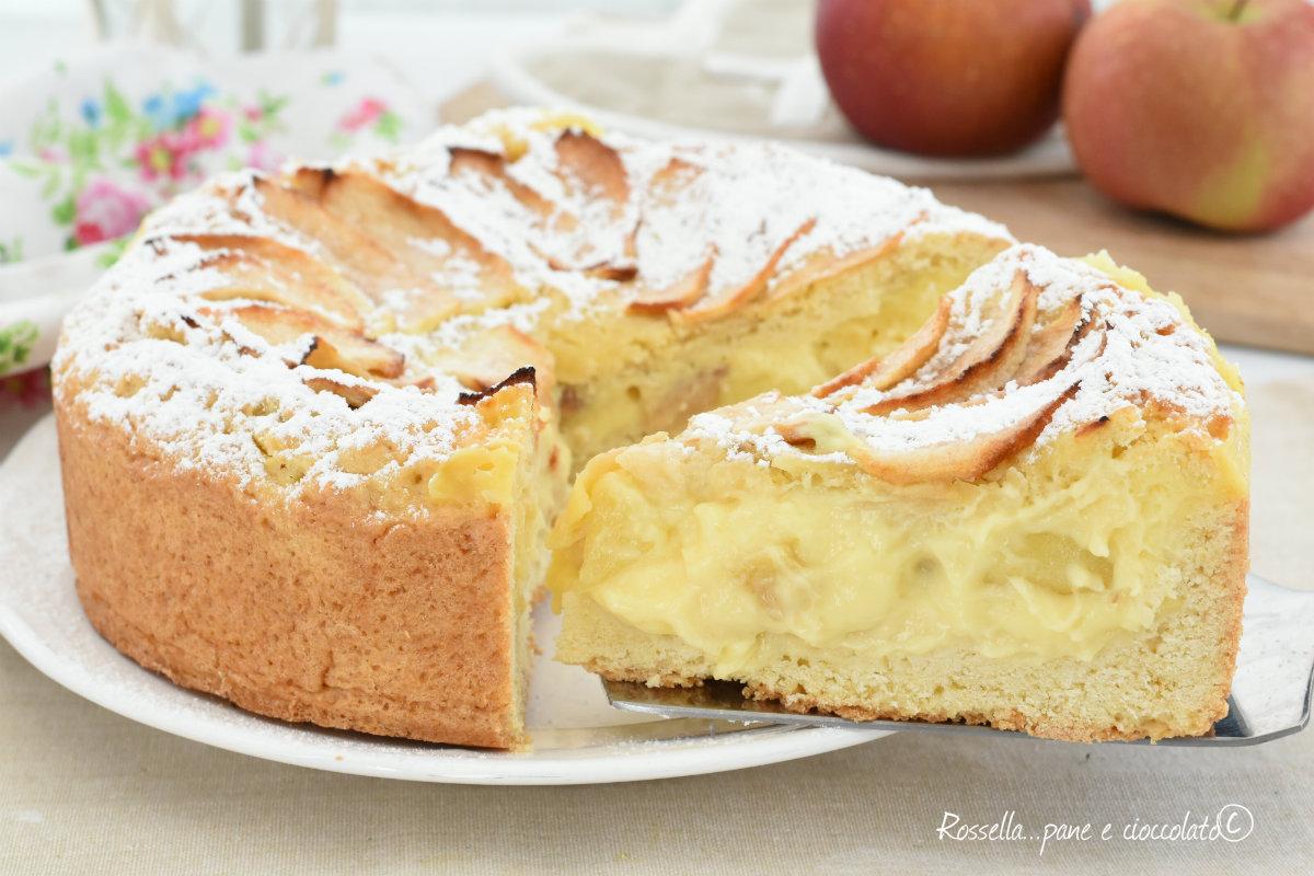 Crostata mele e crema pasticcera morbida cremosa e facile for Crostata di mele