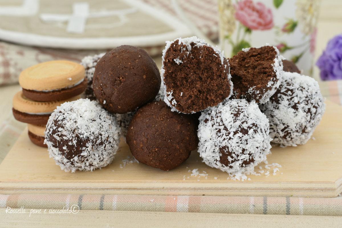 Tartufi alla nutella e biscotti ringo senza burro - Bagno nella nutella ...