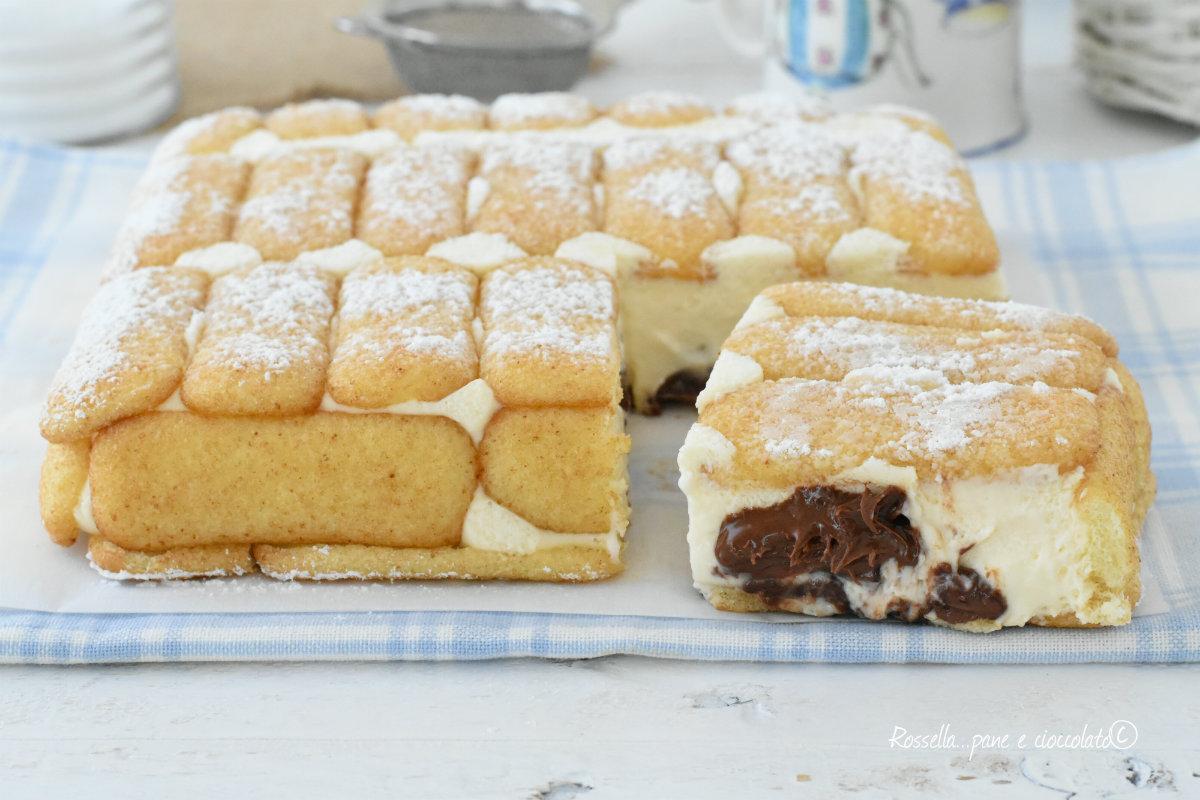 torta nua fredda pavesini e nutella