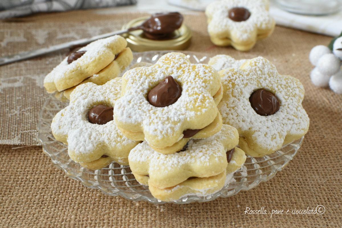 BISCOTTI CANESTRELLI alla NUTELLA di Pasta Frolla Friabile