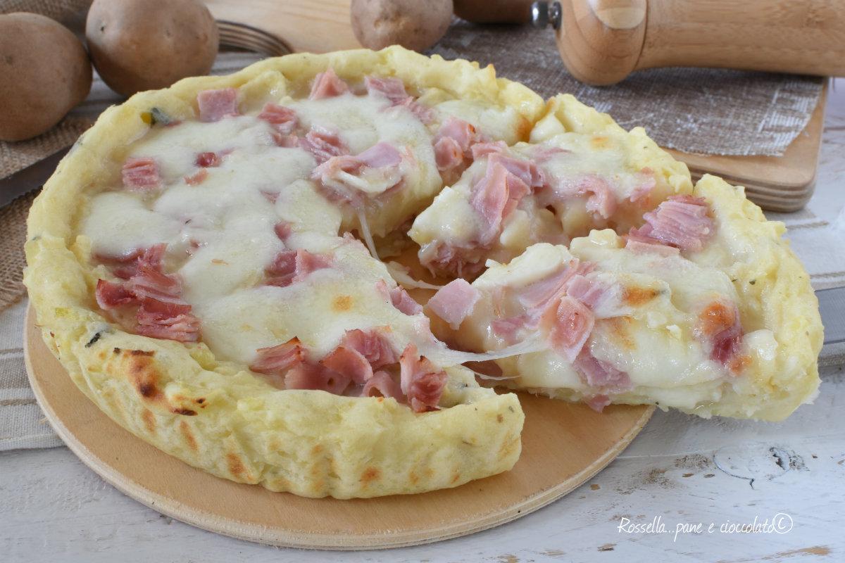 TORTA al Forno di PATATE Prosciutto Cotto e Mozzarella