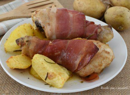 Cosce di Pollo al Forno con Patate e Speck