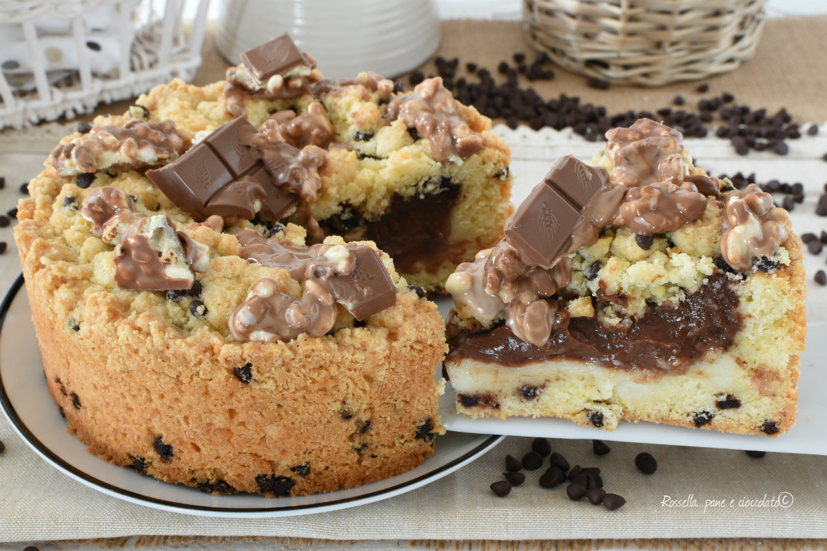 TORTA IMPASTO Cookie con Kinder Cereali