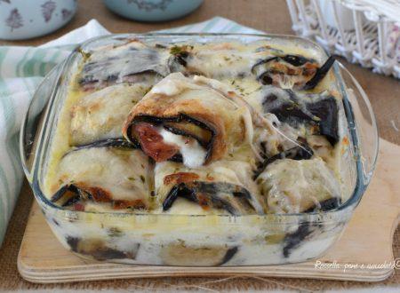 MELANZANE al FORNO Prosciutto Cotto e mozzarella