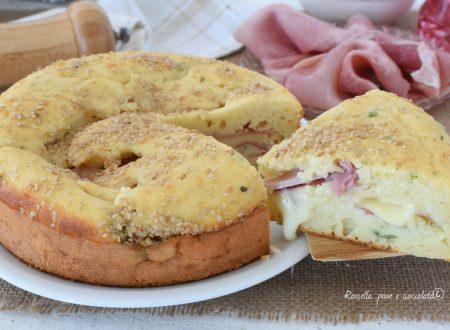 Torta Antipasto al Prosciutto Cotto con Impasto Soffice
