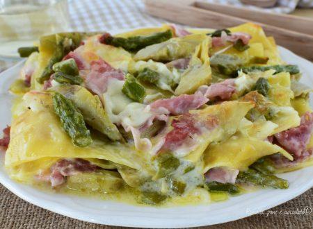 Lasagne al FORNO Prosciutto COTTO e Carciofi