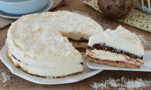 TORTA Cheesecake Cocco e NUTELLA