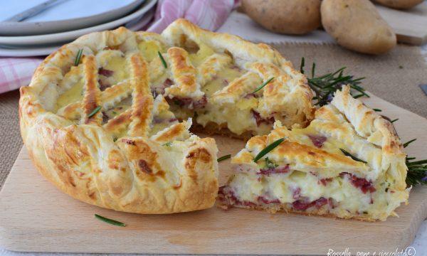 Torta al FORNO Patate Salame e Mozzarella