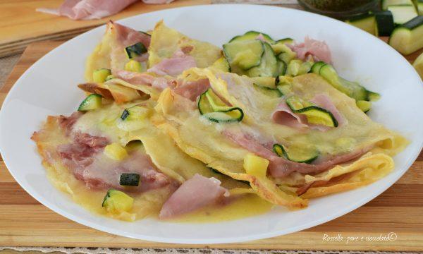 CRESPELLE al FORNO Ripiene di Cotto e Zucchine