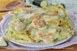 Lasagne al Forno Zucchine e Gamberi