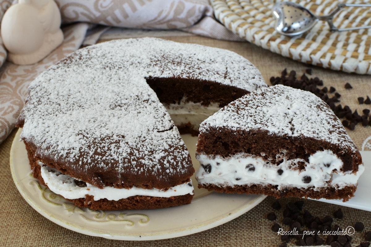 Ricetta Torta Al Cioccolato Farcita.Torta Ripiena Di Ricotta E Cioccolato Ricetta Soffice