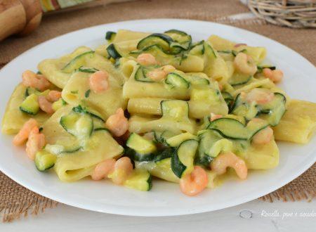 Pasta Zucchine e Gamberi cremosa