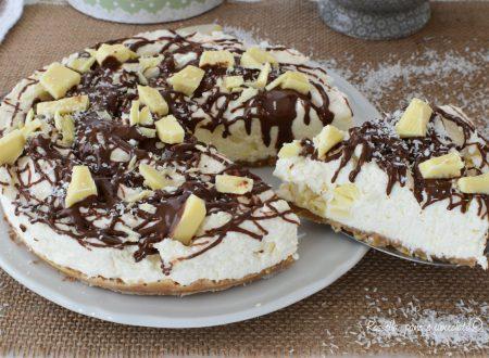 CHEESECAKE NUTELLA Cocco e Cioccolato Bianco