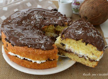 DOLCE al Cioccolato RIPIENO di Nutella e Cocco
