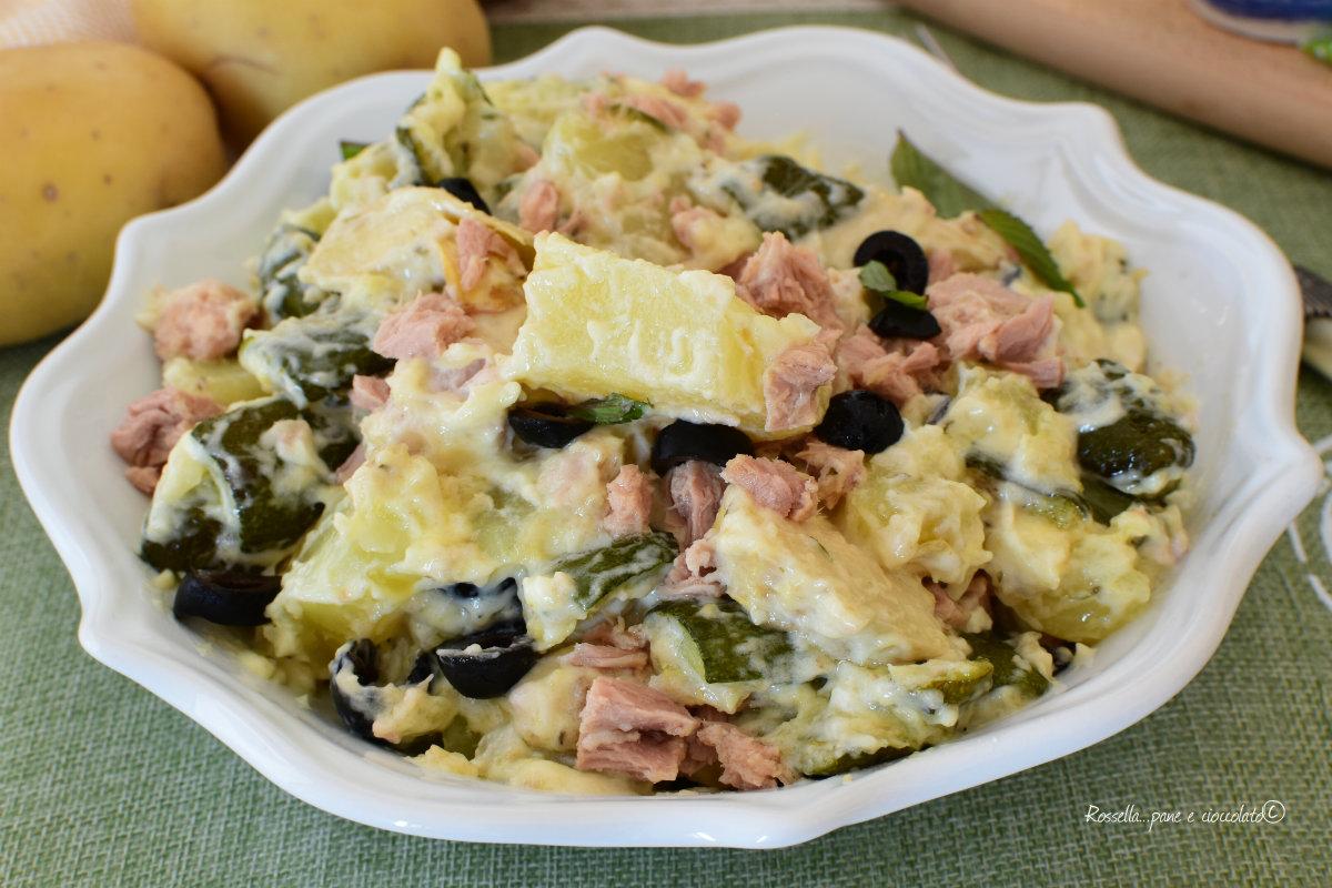 INSALATA di PATATE Tonno Zucchine e Carciofi Antipasto veloce