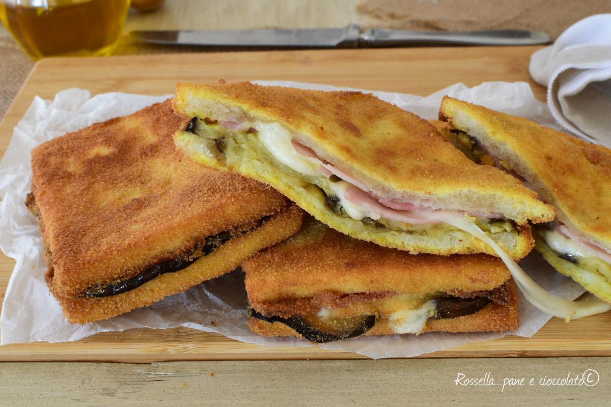 Ricetta Toast Salati Melanzane e Mozzarella
