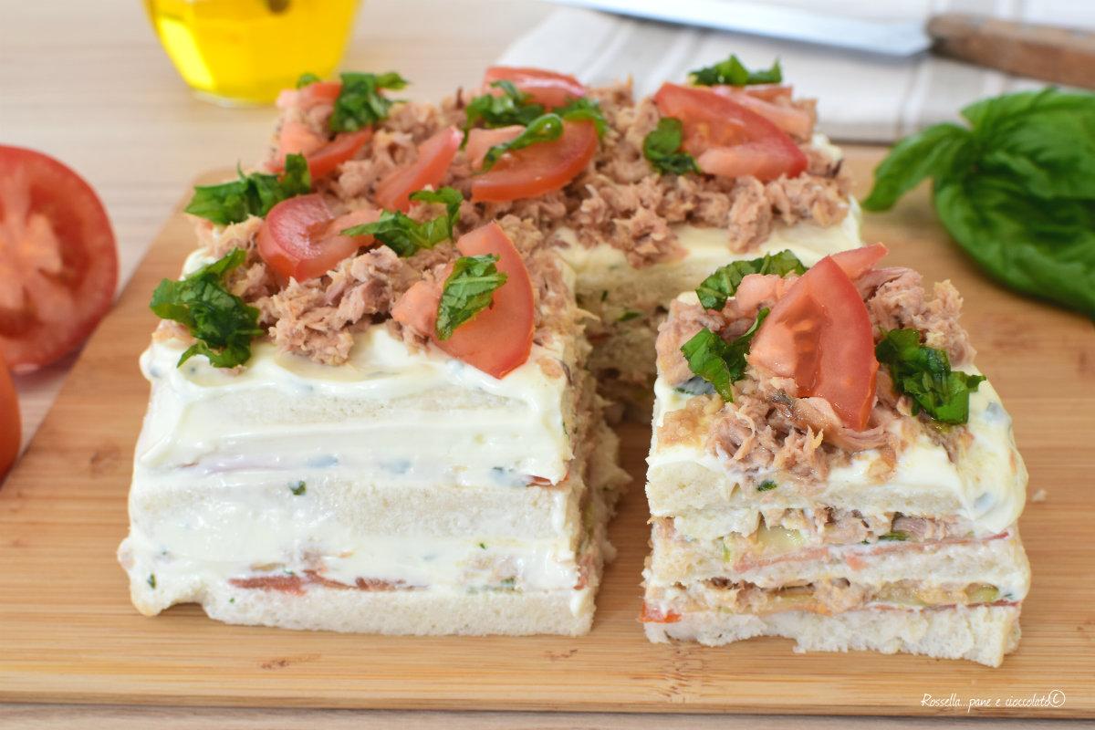 ANTIPASTO Torta Salata Ripiena di TONNO Estiva