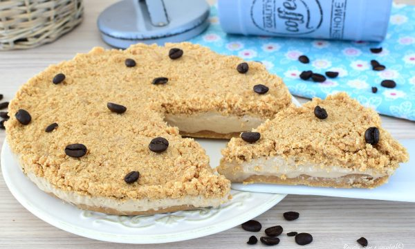 TORTA Cheesecake al CAFFE Sbriciolata Senza COTTURA