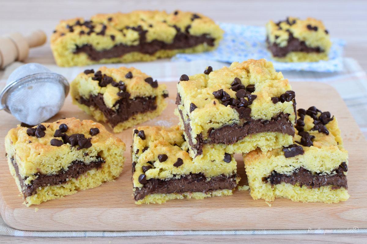 TORTA Cookie Cocco e nutella di Pasta frolla