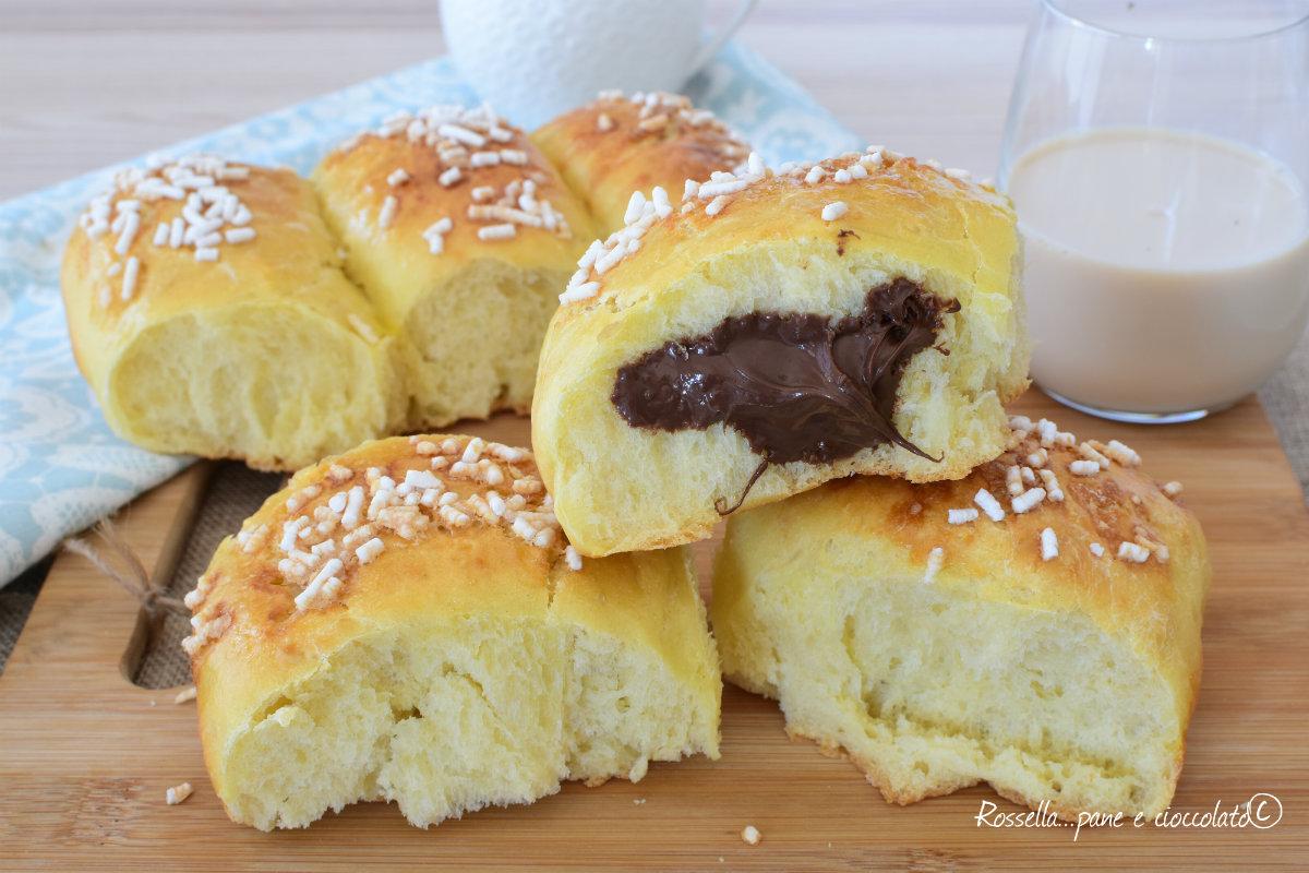 Pan di Latte DOLCE Brioche Ripieno di NUTELLA