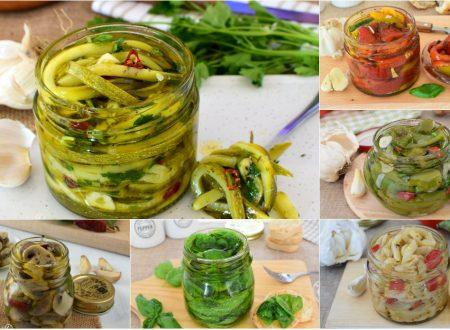 RICETTE di CONSERVA con Zucchine Melanzane da Contorno