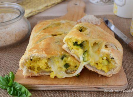 Rustico di Pasta Sfoglia Ripieno di Zucchine Riso e Mozzarella