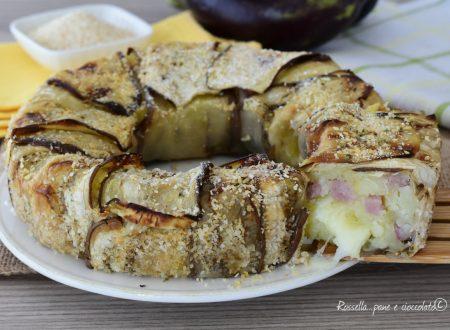 SFORMATO di Melanzane Ripieno di Patate e Mozzarella